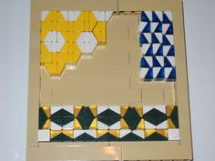 Some Mosaic ideas using (mostly) chiclets, which, when laid on their sides and nested next to each other, are exactly 2.5 plates x 2.5 plates, the same as a 1x1 brick, which makes the geometry fairly easy.