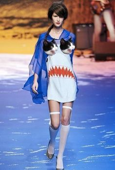 Struggling between feline and fish fashion the new designer on the block went for both. It was neither here not there, it was pretty much everywhere. #ML
