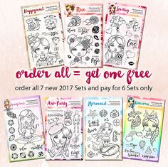 NEW 2017 Cre8tive Cre8tions Clearstamp Sets – order now » Cre8tive Cre8tions by Andrea Gomoll