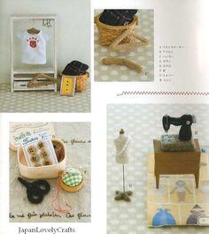Kawaii Petit Zakka Goods of Needle Wool Felt by JapanLovelyCrafts