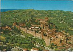 Italien - T2039 Gradara (Pesaro urbino) - Rocca e mura medioevali - Panorama / non viaggiata