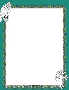 Prayer and Cross Border Borders For Paper, Borders And Frames, Page Boarders, Hama Beads Minecraft, Perler Beads, Beautiful Gif, Beautiful Pictures, Scrapbook Frames, Teal Background