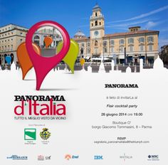 Panorama d'Italia 4° tappa è la volta di Parma... il The Best Shops O'store Parma vi aspetta con il Flair cocktail party giovedi 26 giugno ore 19!!!