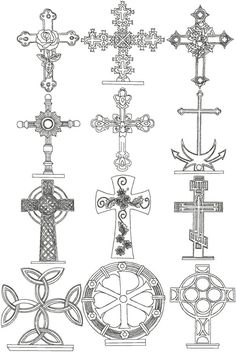 Advanced Embroidery Designs - Redwork Cross Set