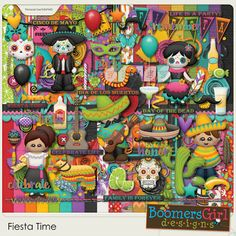 "BoomersGirl Designs: ""Fiesta Time"" Digital Kit"