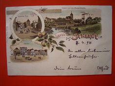 Schlawe  - Tor , Ansicht , Markt , gel.1898 | eBay