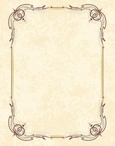 A swirly retro vector vintage frame on a old - looking grungy background. Put your own text inside this frame and you will surely get a great result. Vintage Picture Frames, Vintage Frames, Vintage Prints, Borders For Paper, Borders And Frames, Free Frames, Art Nouveau Frame, Retro Vector, Vector Free