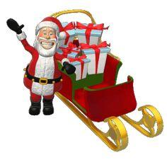 50 Imágenes Animadas de Papa Noel | Santa Claus GIFS - 1000 Gifs