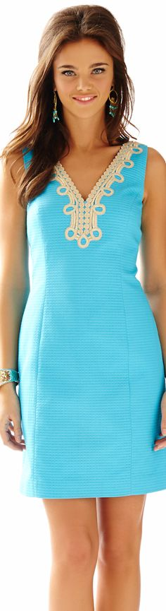 LILLY PULITZER BENTLEY V-NECK SHIFT DRESS | House of Beccaria~
