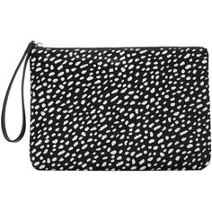 Leather Fur Clutch (€17) ❤ liked on Polyvore featuring bags, handbags, clutches, print handbags, 100 leather handbags, leather clutches, genuine leather handbags and real leather purses