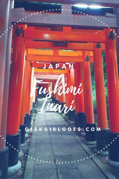 """Fushimi Inari: Memoirs of a Geek-sha. One of the top tourist spots in Japan, and the setting for one of the most beautiful scenes in the movie """"Memoirs of a Geisha"""". Follow me, as I explore this beautiful place!"""