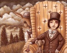 Alice in Wonderland Art  Mad Hatter and Company by TheBloomingHare