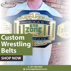 Do you want a wrestling belt around your waist, just like your favorite champion? Then customize it here at Digital Jewelry with the real quality leather. Belt Shop, Free Quotes, Champion, Texas, Wrestling, Leather, Digital, Jewelry