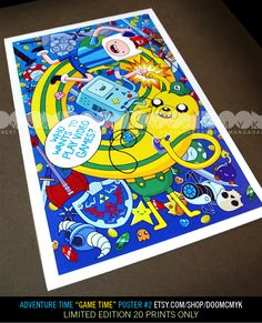 """Adventure Time """"Game Time"""" aka """"Who Wants to Play Video Games?"""" Fan Art Poster 2"""
