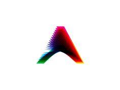 A letter mark, colorful blends, logo design symbol by Alex Tass