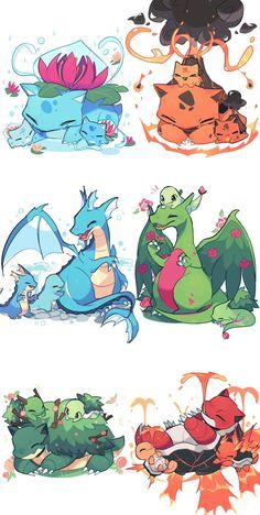 Pokemon Comics, Pokemon Funny, All Pokemon, Pokemon Fusion Art, Pokemon Fan Art, Pokemon Images, Pokemon Pictures, Deviantart Pokemon, Pokemon Starters