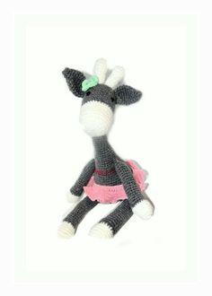 Ręcznie robiona szydełkowa Żyrafa w MadiCraft na DaWanda.com