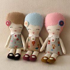 como fazer bonecas vintage estampadas ja no tecido - Pesquisa Google