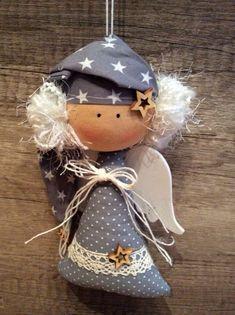 Nativity Ornaments, Felt Christmas Ornaments, Christmas Nativity, Angel Ornaments, Angel Crafts, Cat Crafts, Diy And Crafts, Christmas Sewing, Christmas Crafts