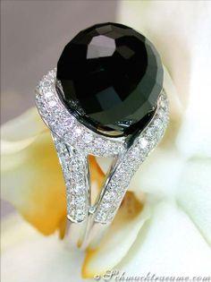 Cute Onyx Diamond Ring, WG18K   LBV ♥✤   KeepSmiling   BeStayElegant