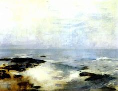 """""""Ship's Rock, Ogunquit,"""" Emil Carlsen, oil on canvas, 20 x 24"""", private collection."""