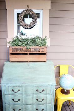 The Inspired Room Dresser on the Front Porch
