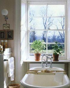 "443 Likes, 10 Comments - Rita Konig (@ritakonig) on Instagram: ""Pretty loo with a pretty view - a shot of the Duchess of Devonshire's bathroom, originally…"""