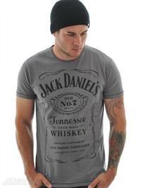 Tee shirt Jack Daniels Classic Black Logo Gris | Jack Daniels | FreestyleXtreme