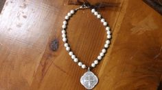 Original Pearl, Bow, and Sterling Silver Necklace by PataSilverDesign