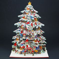 Miss Girlie Girl: Say Hello to Christmas! NEW Shimmering Christmas Tree Village Pop Up Card Arrival