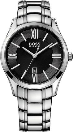 Boss Quarzuhr »AMBASSADOR ROUND, 1513025« – Armbanduhren Center
