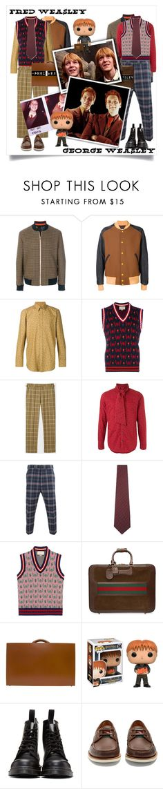 """Fred and George nowadays"" by lianafourmouzi ❤ liked on Polyvore featuring Paul Smith, Maison Margiela, Givenchy, Gucci, George, Universal, Kazuyuki Kumagai, Vivienne Westwood Man, ETON and Bentley"