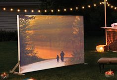 Why watch a movie inside when you can build an outdoor screen with the help of your Dremel Saw-Max and rotary tool? See #DremelWeekends for complete list of supplies and instructions.