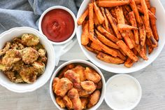 Cold beverages and tasty appetizers are a must-have for any get together. We took our favorite appetizers and transformed them into air fryer recipes. The result? Perfectly crunchy goodness that will be a hit at your next party. Check out our spread of Air Fryer Appetizers: sweet potato fries, pickles and, of course, cheese curds!