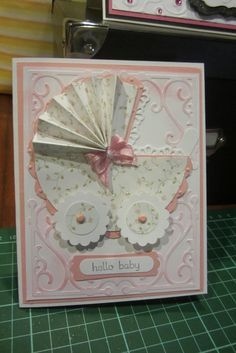 Image result for babygirl pram card accordion pleats