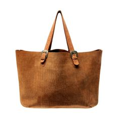 Brown Suede Market Bag