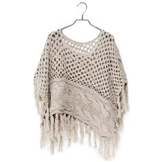 Poncho (59) found on Polyvore. Crochet & knit