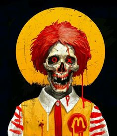 Imaginary Friends by Catalin Lartist, via Behance Creepy Clown, Creepy Art, Arte Horror, Horror Art, Illustration Art, Illustrations, Zombie Art, Evil Clowns, Skull Art