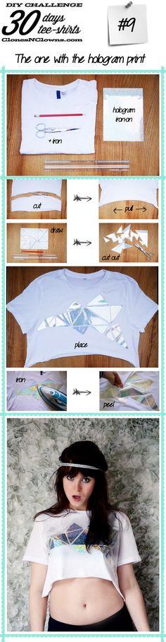 DIY no sew hologram crop topDIY BLOG