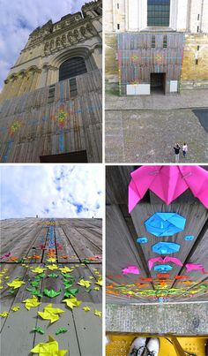 Street Origami: 30,000 Pieces Folded to Create Colorful Art