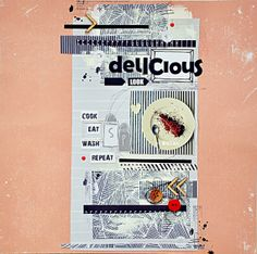 """layout made by Nulka with new SODAlicious paper collection """"PAPER LINES"""""""