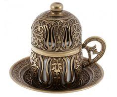 Filiżanka w stylu ottomańskim z porcelanowy wkładem. www.galerisultan.pl