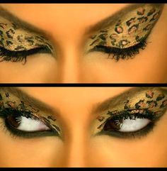 Beyonce leopard eyeshadow from her Kitty Kat music video.