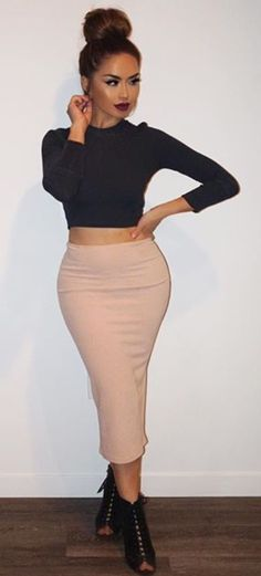 Crop Top & Midi Skirt