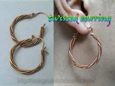 4630850e77ab Twisted earring from copper wire - handmade jewelry design 344 - YouTube   handmadejewelry  handmadejewelrydesigns