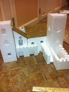 Styrofoam & cardboard castle