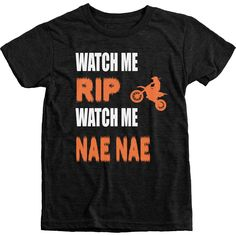 Watch Me Rip Watch Me Nae Nae Motocross Boy's Tri-Blend Crew