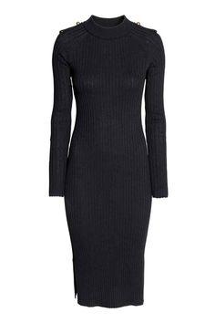 Vestido em malha canelada | H&M