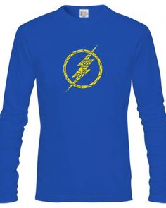 Superhero The flash long sleeve shirt for men