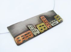 Pendant necklace City  Statement necklace  Strand by DropsOfArt, €32.00